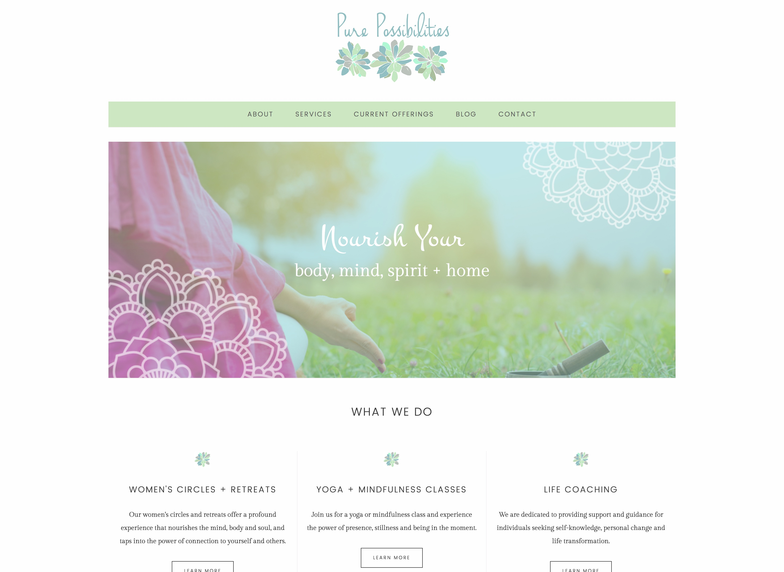 purepossibilities-homepage